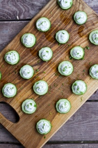Cucumbers-with-Herbed-Cream-Cheese